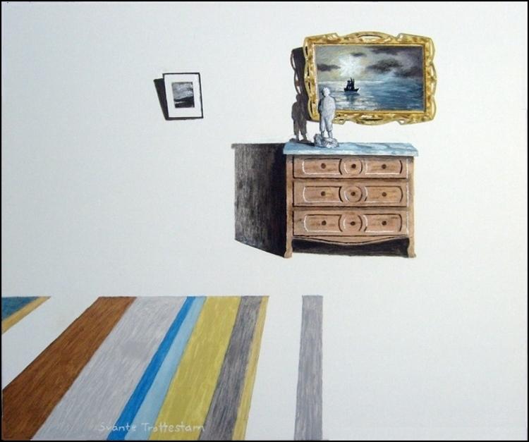 'Interiör', 2017, ett konstverk av Svante Trottestam