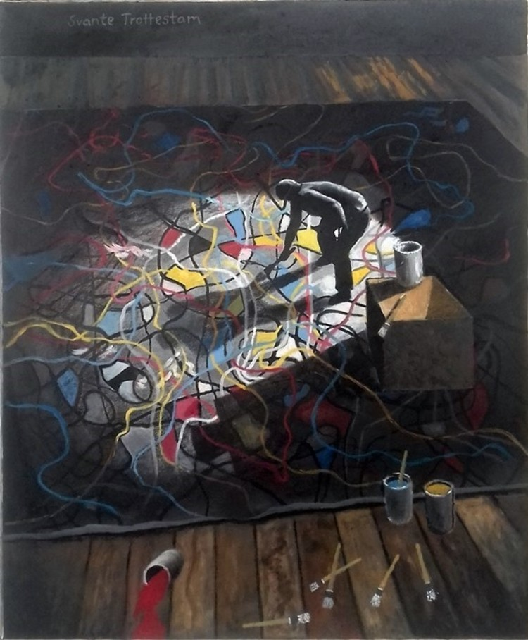 'Pollock', 2019, ett konstverk av Svante Trottestam