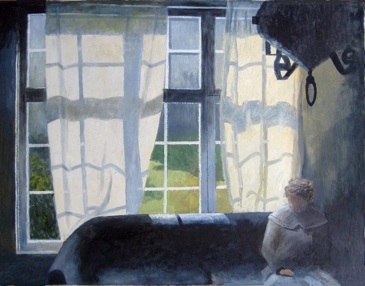 'Sommarfönster', 2019, ett konstverk av Svante Trottestam