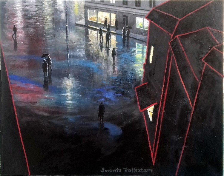 'Efter regnet', 2019, ett konstverk av Svante Trottestam
