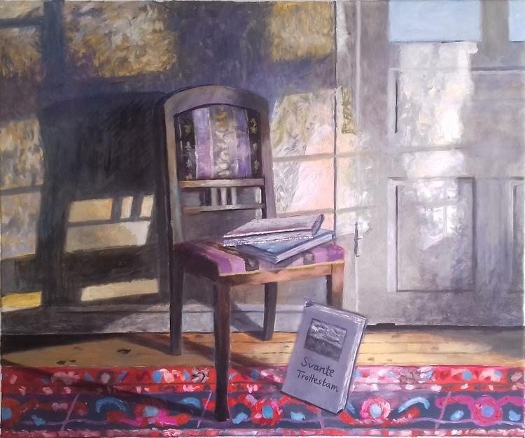 'Stol i Wallgrens villa', 2020, ett konstverk av Svante Trottestam