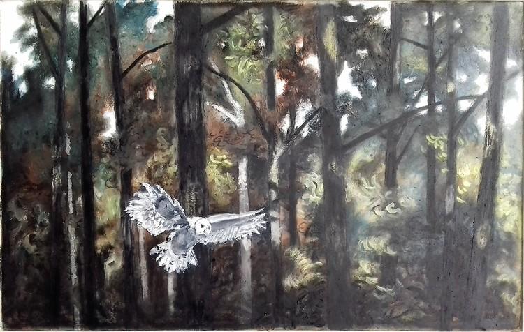'Skogen', 2020, ett konstverk av Svante Trottestam