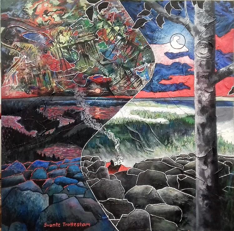 'Balanserat boende', 2020, ett konstverk av Svante Trottestam