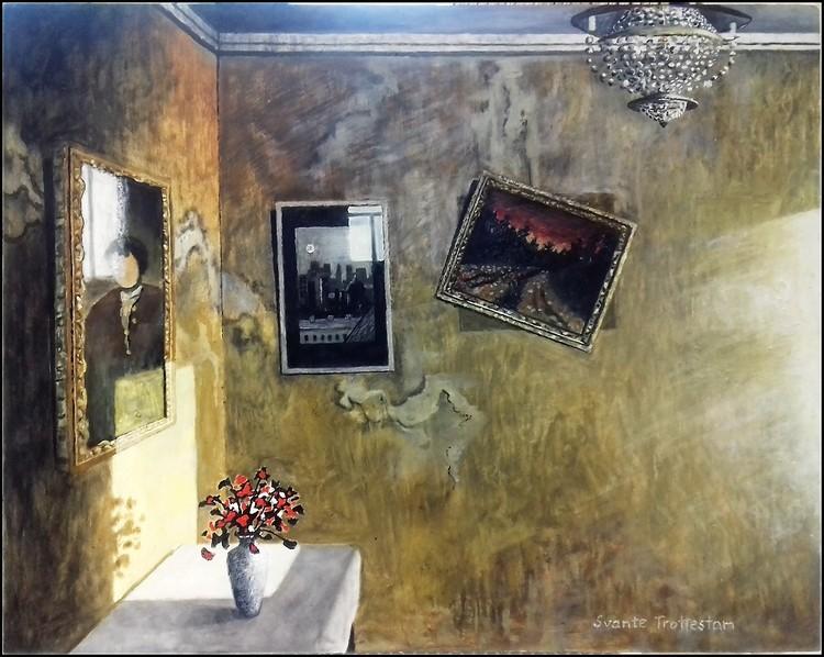 'På snedd', 2020, ett konstverk av Svante Trottestam