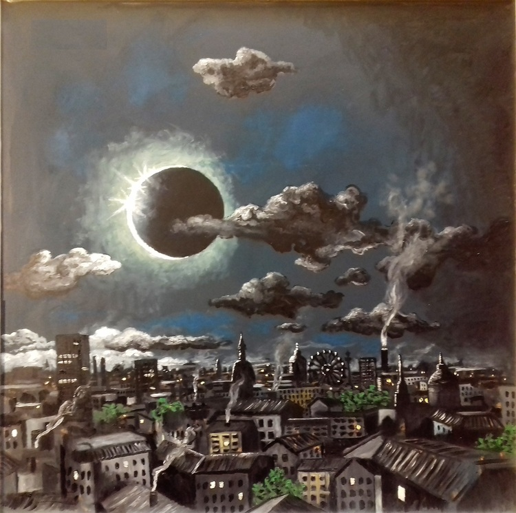 'Eklips', 2020, ett konstverk av Svante Trottestam