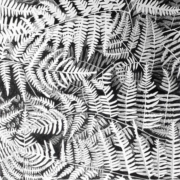 'Blad nr 10', 2019, ett konstverk av Annika Lindfors