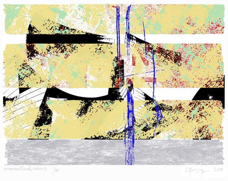'Impressionen och därefter 6', 2018, ett konstverk av Tibor Jaeger