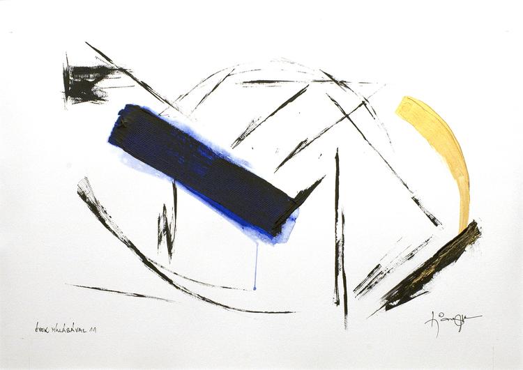 'Vid åren har passerat 11', 2019, ett konstverk av Tibor Jaeger
