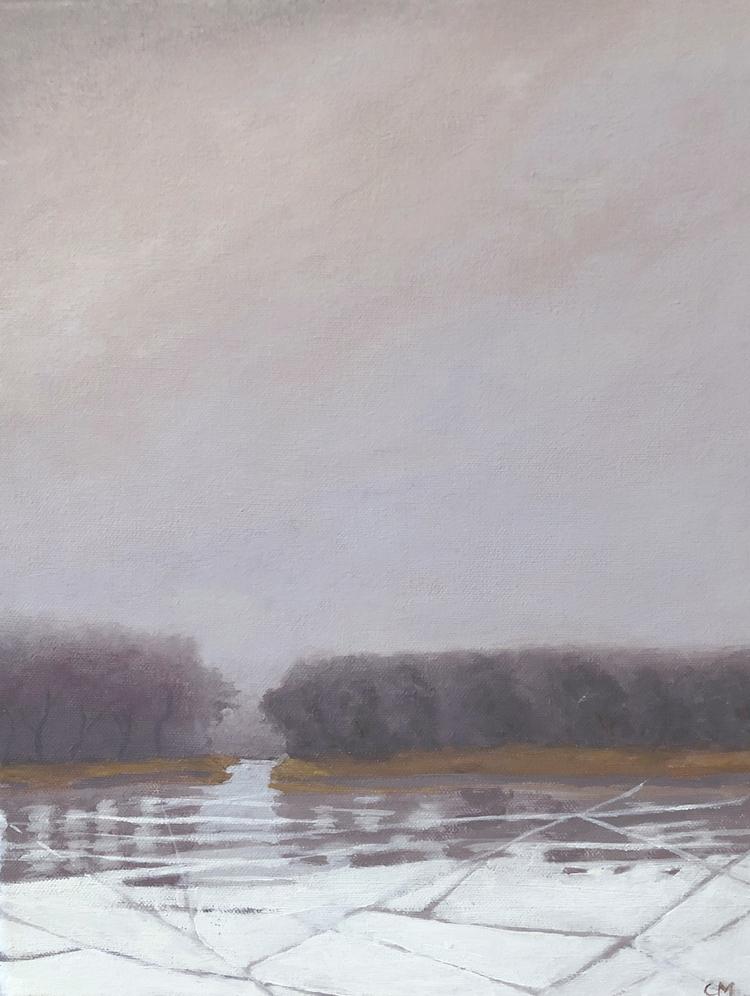 'Liten frost 2', 2019, ett konstverk av Carina Moberg Eyre