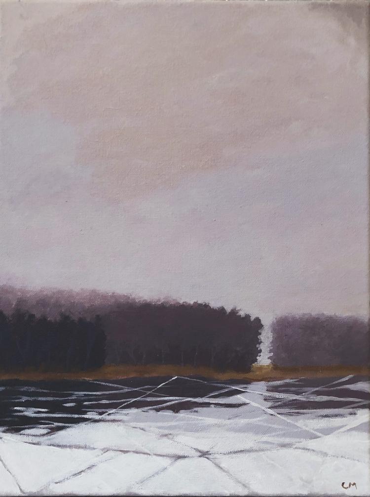 'Liten frost 3', 2019, ett konstverk av Carina Moberg Eyre