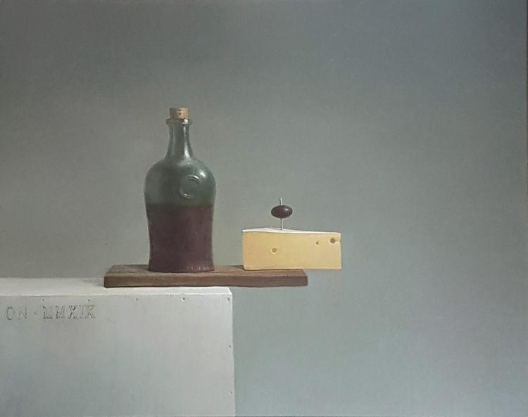 'Sista måltiden', 2019, ett konstverk av Oleg Nourpeissov
