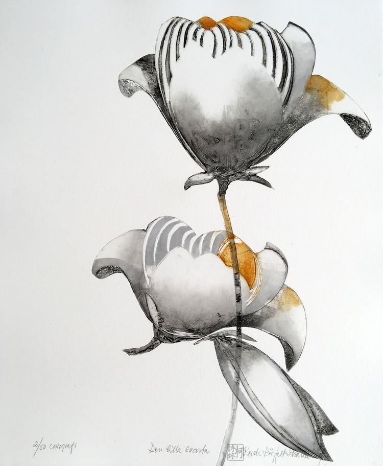 'Den lilla svarta', 2019, ett konstverk av Kersti Rågfelt Strandberg