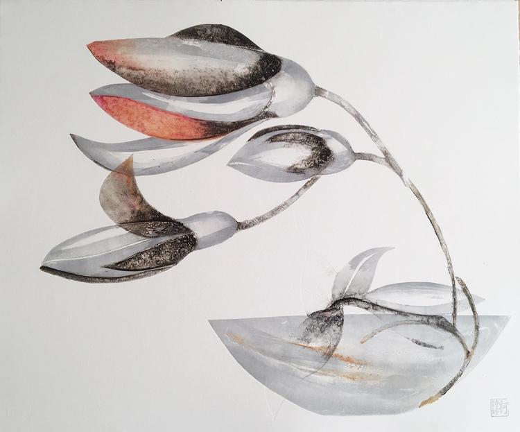 'Böjer', 2019, ett konstverk av Kersti Rågfelt Strandberg