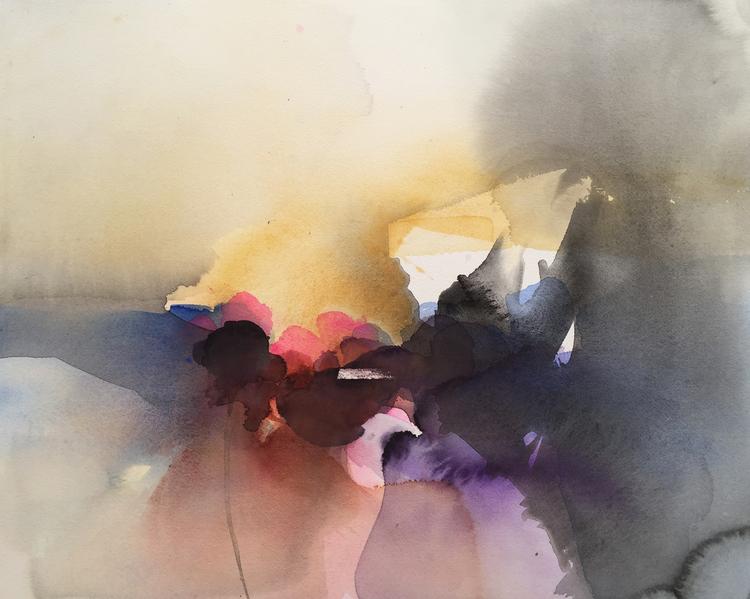 'Dit vindarna bär IV', 2020, ett konstverk av Kersti Rågfelt Strandberg