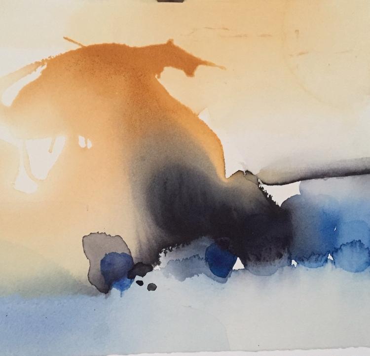'Blåst', 2020, ett konstverk av Kersti Rågfelt Strandberg