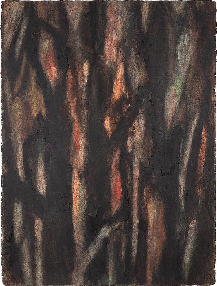 'Ekskog i solnedgång', 2017, ett konstverk av Torbjörn Östman