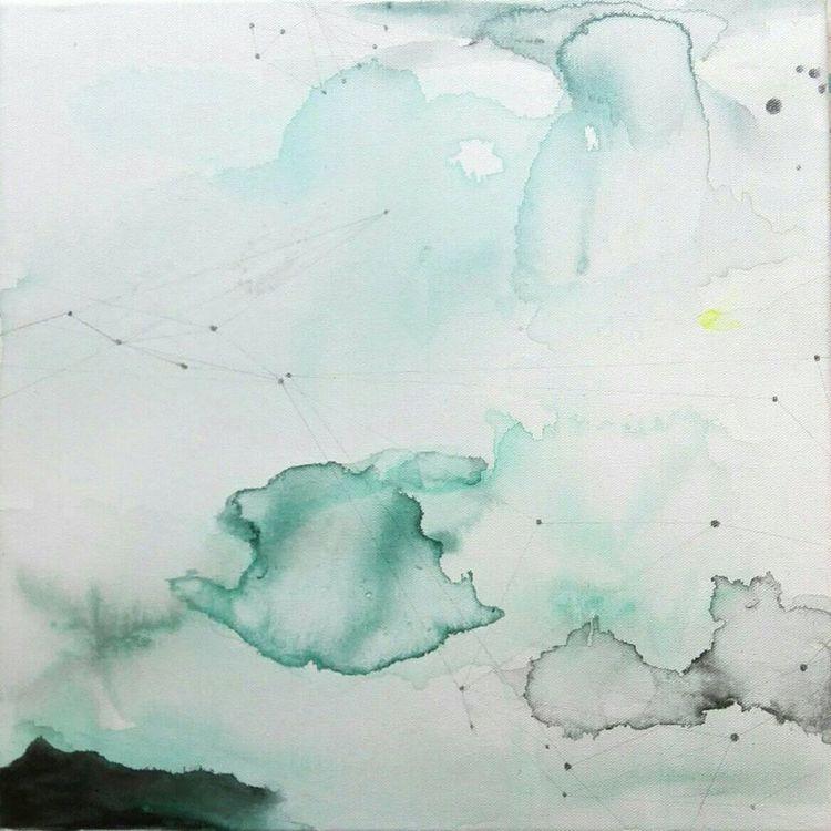 """'""""Molnen""""', 2020, ett konstverk av Lotta Hellström"""