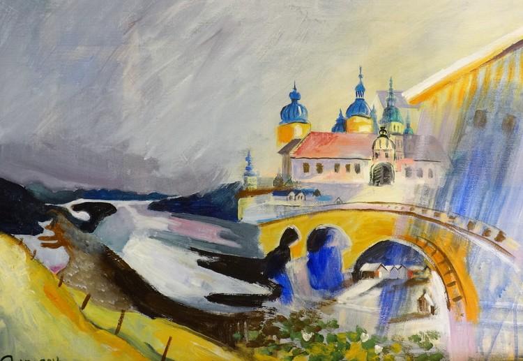 'Sagoslott', 2019, ett konstverk av Josef Pinter