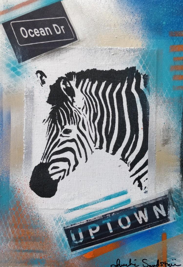 'Zebra', 2020, ett konstverk av Annelie Sandström