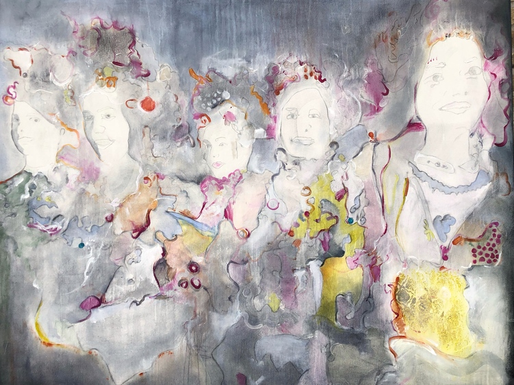 'Grey Dancers', 2020, ett konstverk av Maria Tolstoy Sinclair