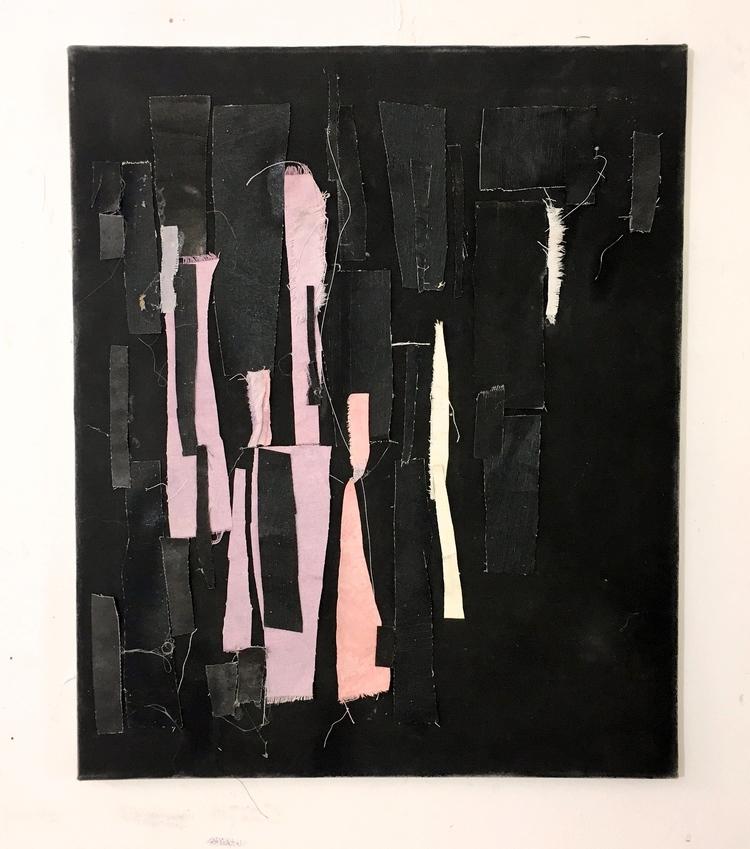 'Lappar och fransar', 2019, ett konstverk av Björn Kjelltoft