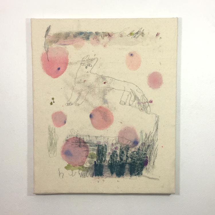 'Morgontimma i fruktträdgården', 2019, ett konstverk av Björn Kjelltoft
