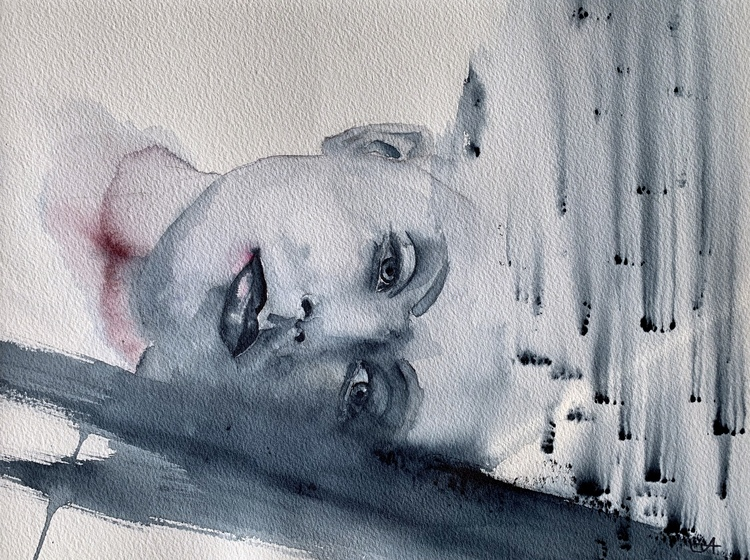 'Thoughts', 2019, ett konstverk av Tuva Andersen
