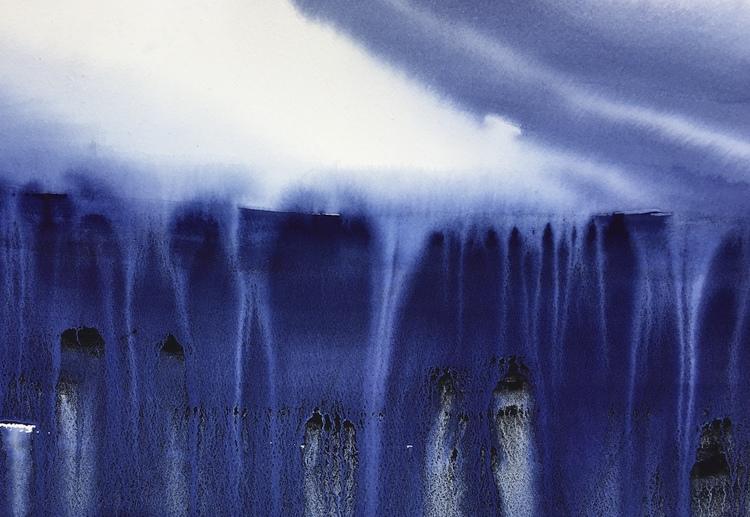 'At the Edge', 2019, ett konstverk av Tuva Andersen