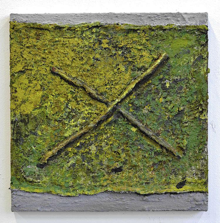 'Utan titel (20200105) Krysset ', 2020, ett konstverk av Ivar Lövheim