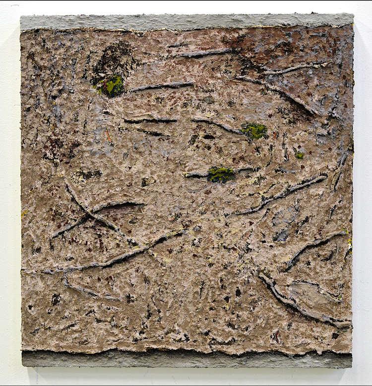 'Utan titel (20191022) Vit stig med rötter', 2019, ett konstverk av Ivar Lövheim