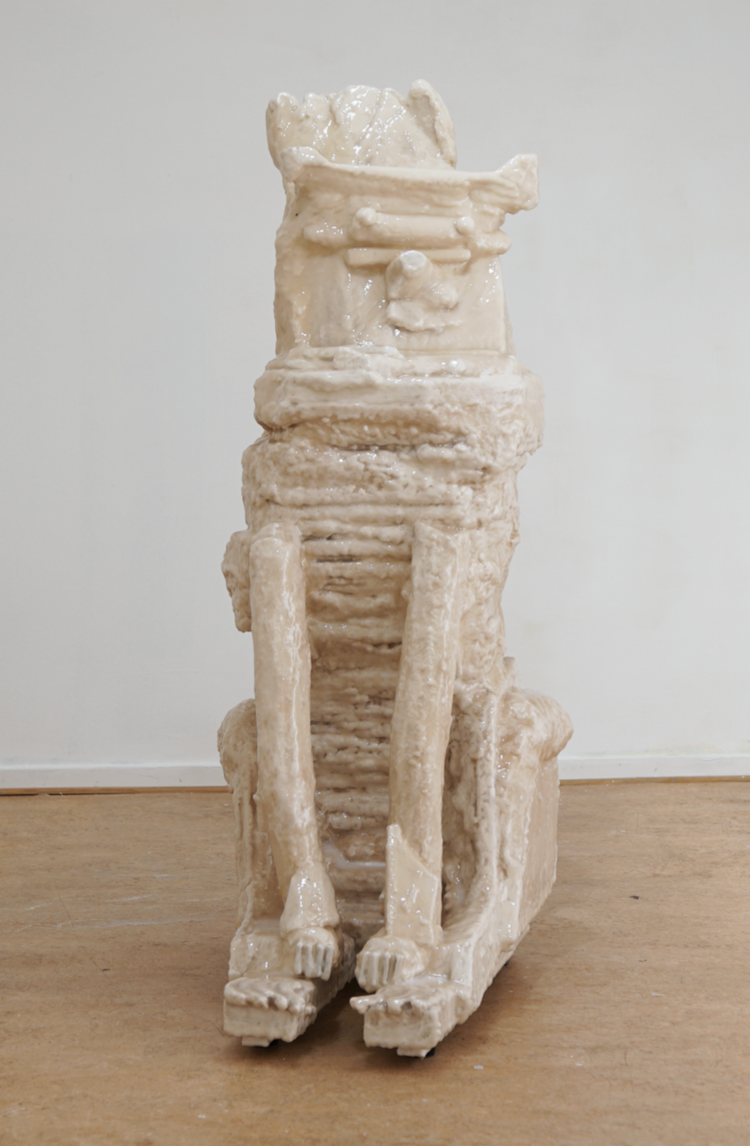 ' Väntande hund', 2019, ett konstverk av Max Ockborn