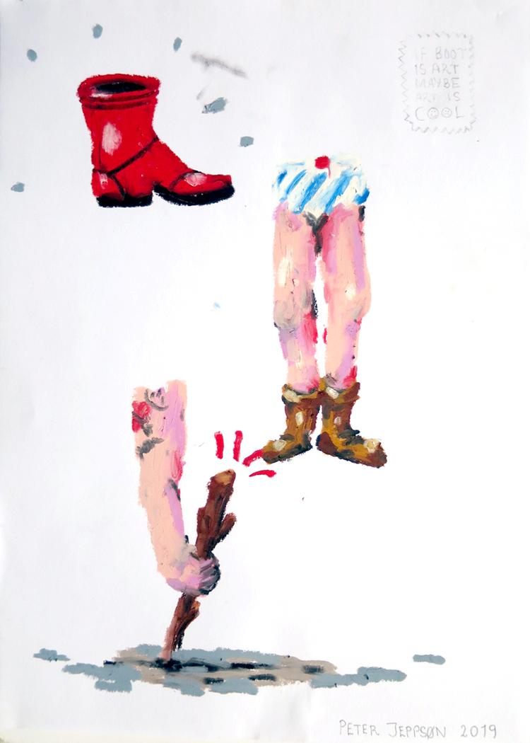 'My daughter needs new shoes', 2019, ett konstverk av Peter Jeppson