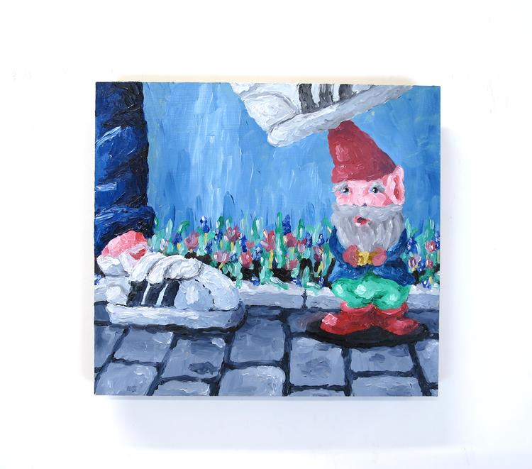 'The nervous gnome', 2017, ett konstverk av Peter Jeppson