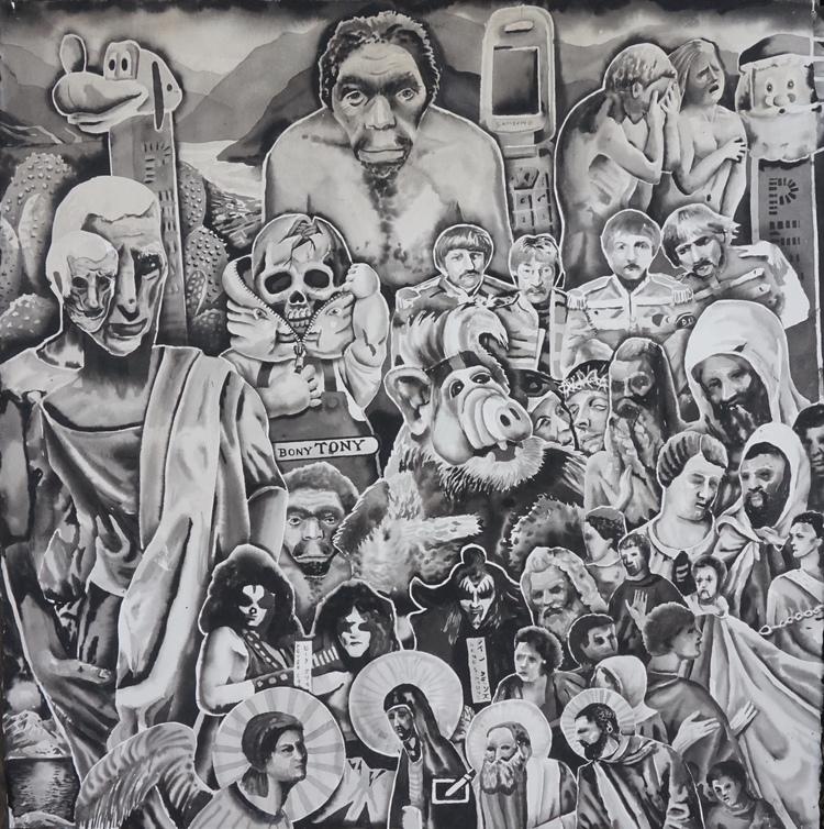 'History lesson', 2018, ett konstverk av Erik Hårdstedt