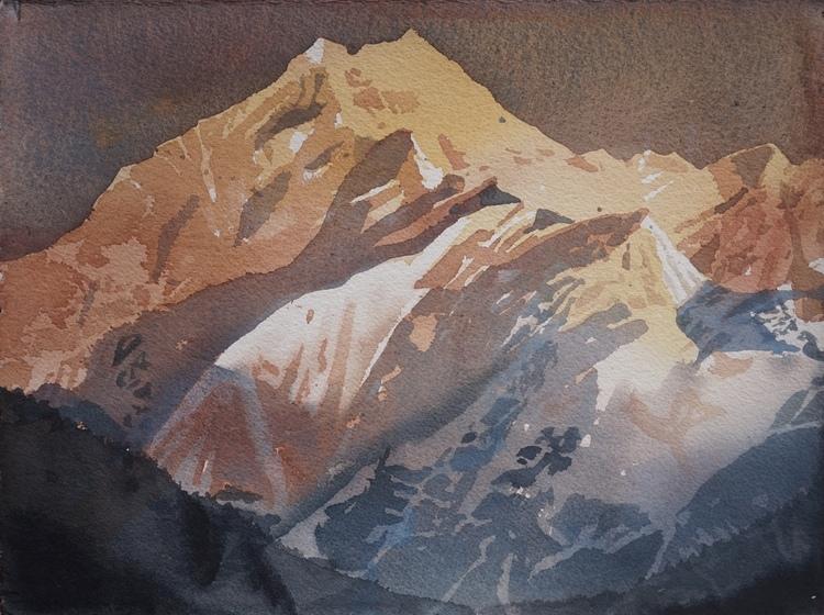 'Annapurna 1', 2017, ett konstverk av Erik Hårdstedt