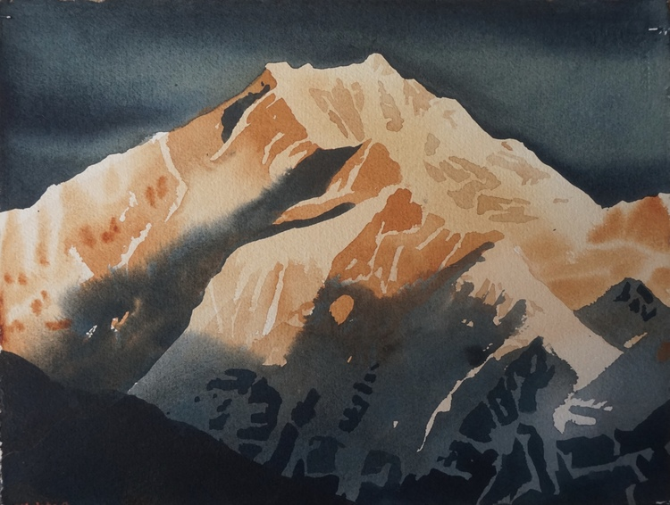 'Annapurna II', 2017, ett konstverk av Erik Hårdstedt