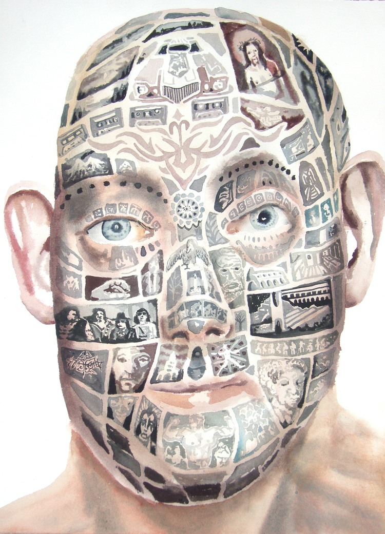 'tribesman', 2019, ett konstverk av Erik Hårdstedt