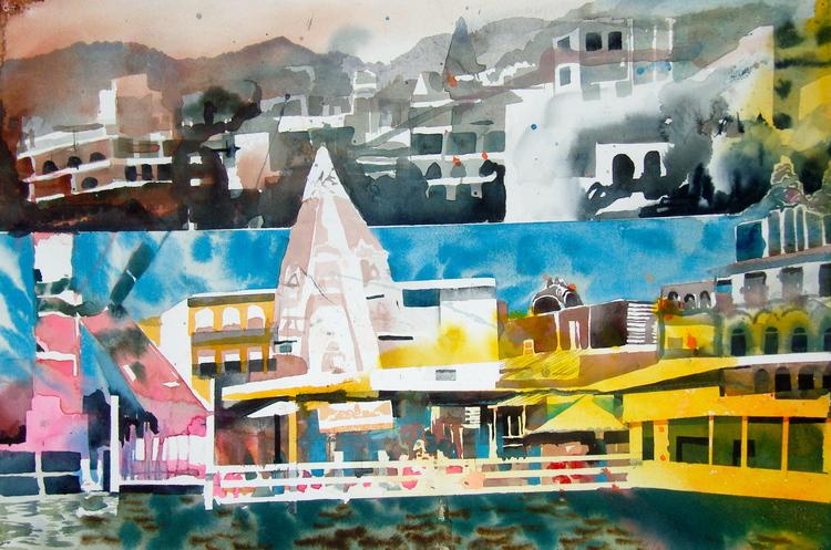 'Rishikesh/ Mathura', 2019, ett konstverk av Erik Hårdstedt
