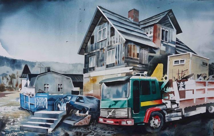 'Uddebo', 2016, ett konstverk av Erik Hårdstedt