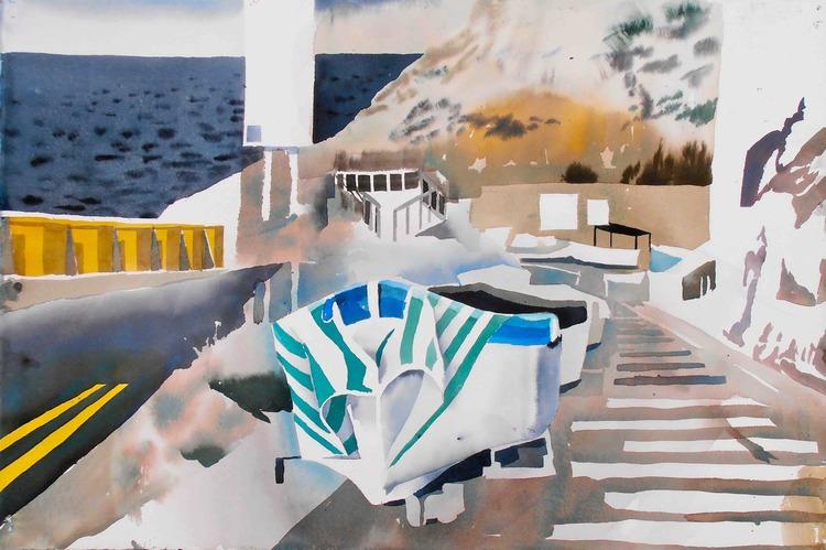 'Blue Grotto, Malta', 2013, ett konstverk av Erik Hårdstedt