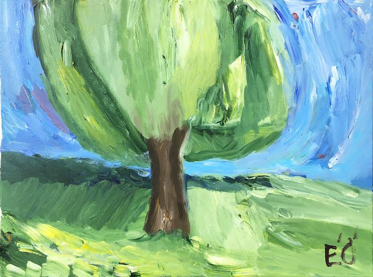 'Träd i Munka', 2019, ett konstverk av Emil Östlund