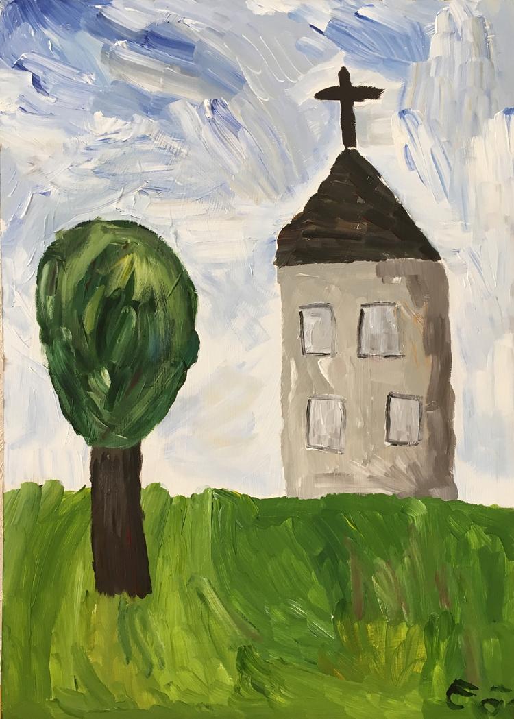 'Kyrkan', 2017, ett konstverk av Emil Östlund