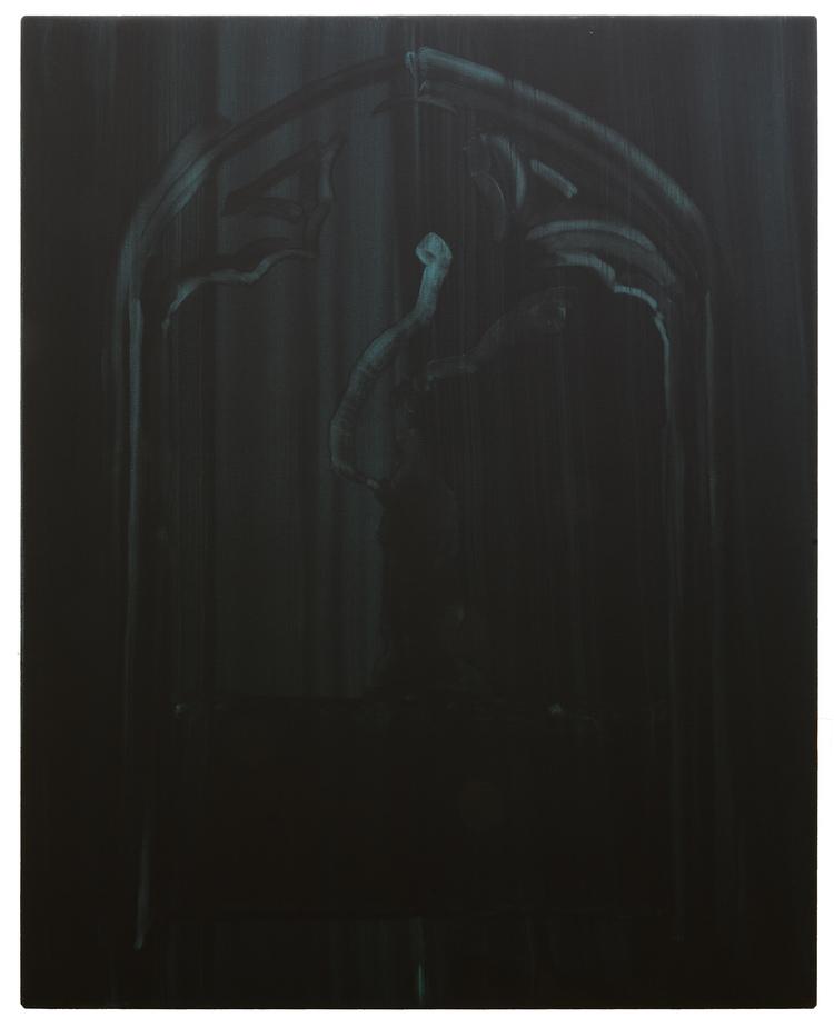 'Figure in black', 2018, ett konstverk av Benjamin Andersson