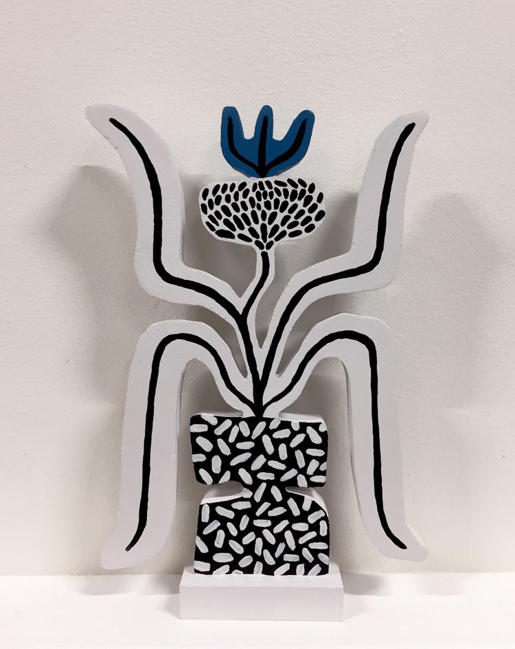 'Blue Thistle', 2019, ett konstverk av Linn Henrichson
