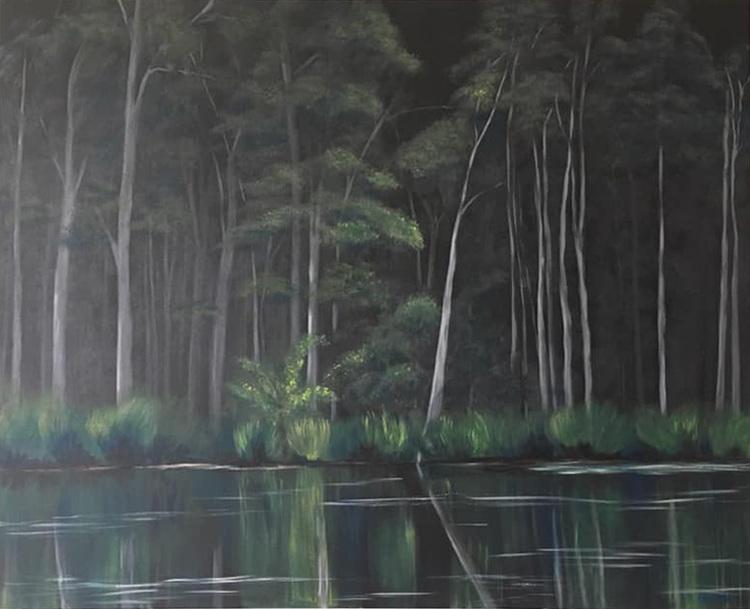 'Darkwood', 2019, ett konstverk av Roxana Scraba