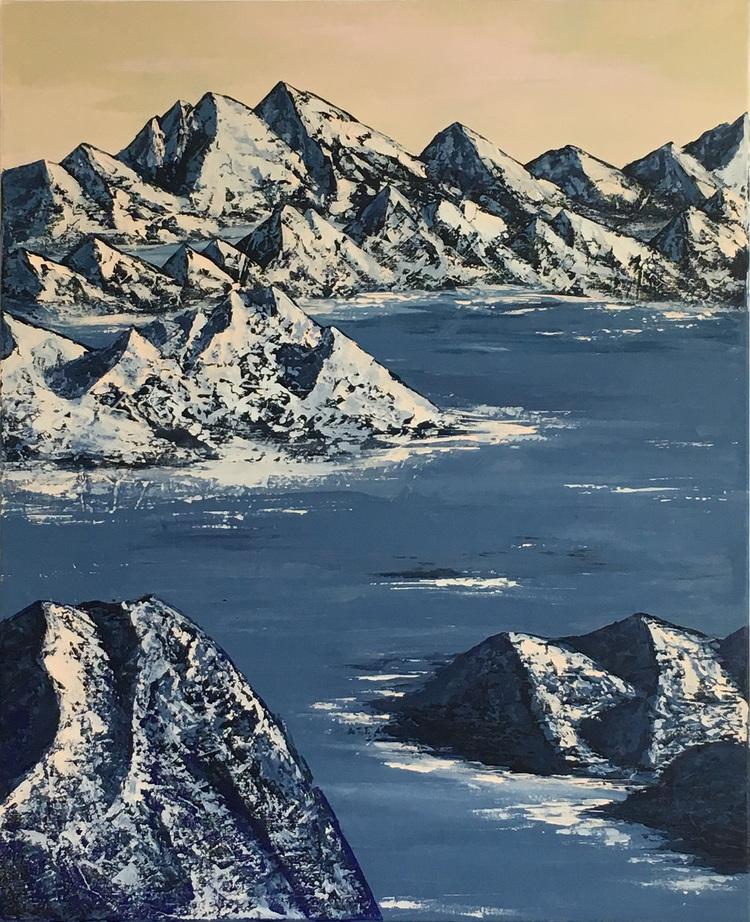 'Frozen lake', 2017, ett konstverk av Roxana Scraba