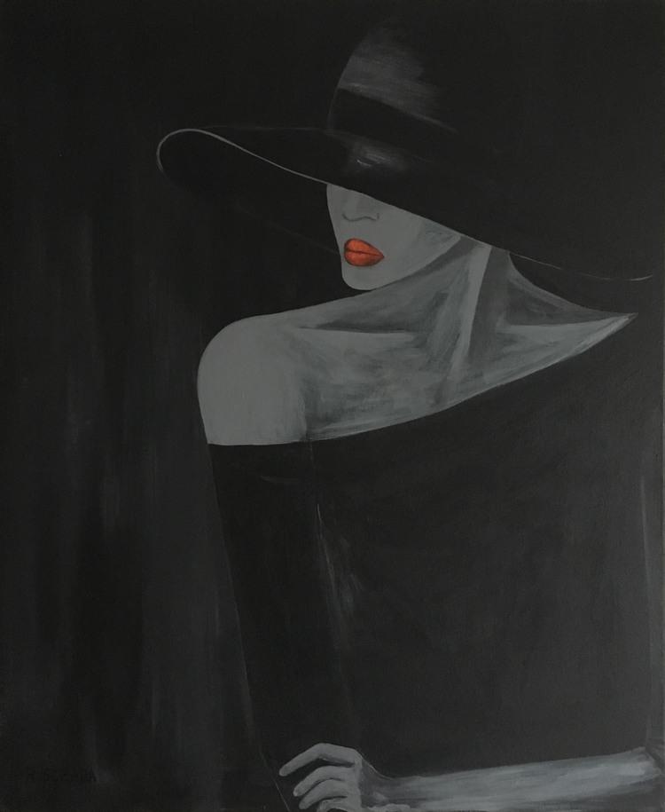 'Lady in black', 2017, ett konstverk av Roxana Scraba