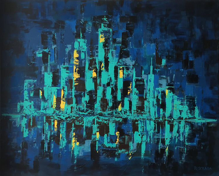 'City lights', 2017, ett konstverk av Roxana Scraba