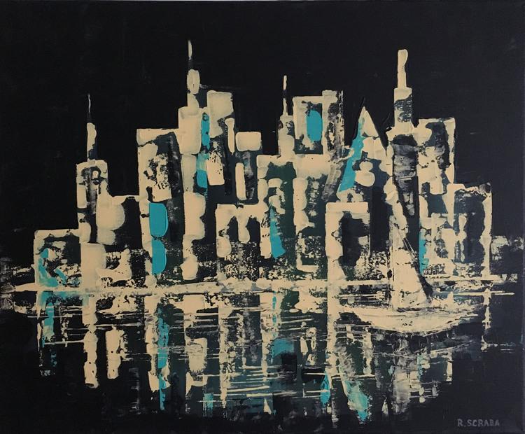 'City by night', 2016, ett konstverk av Roxana Scraba