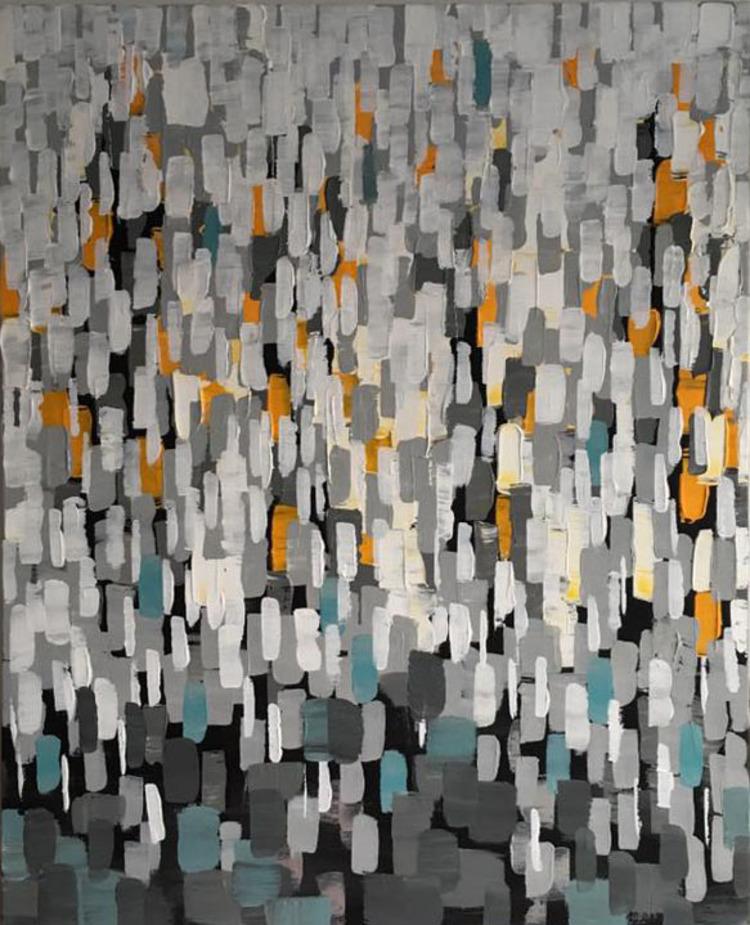'Rain in New York', 2017, ett konstverk av Roxana Scraba